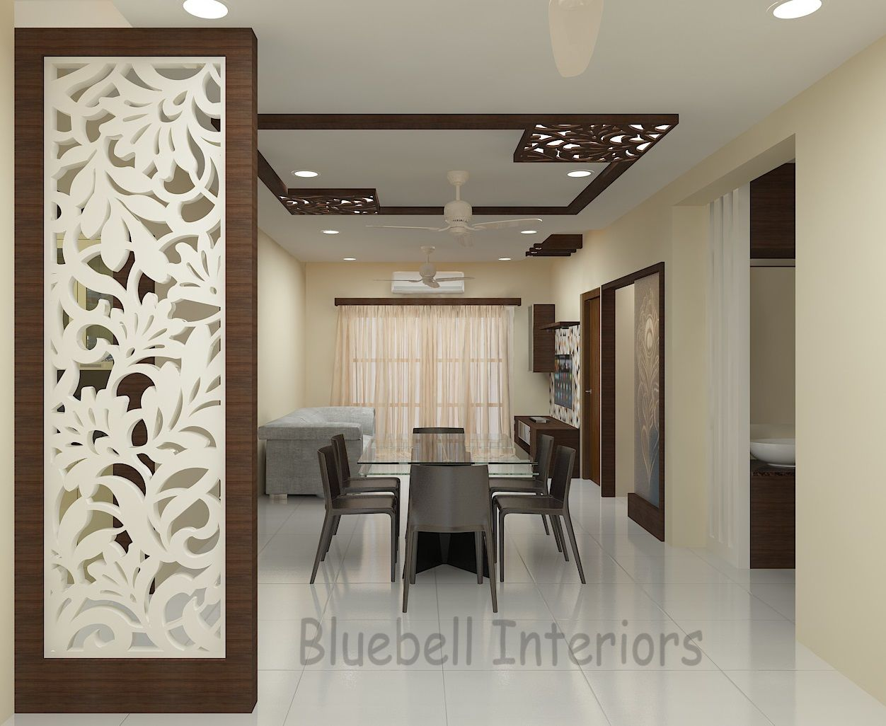 Pin By Hatem Khabery On الشقه In 2020 Living Room Partition Design Room Partition Designs Living Room Partition
