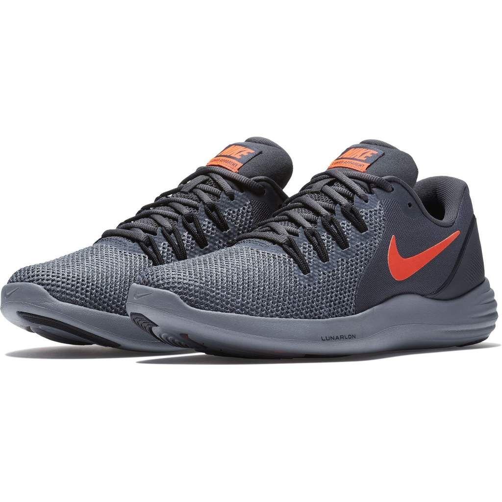 Nike Men's Lunar Apparent Running Shoe Anthracite/Total Crimson-Black-Cool  Grey