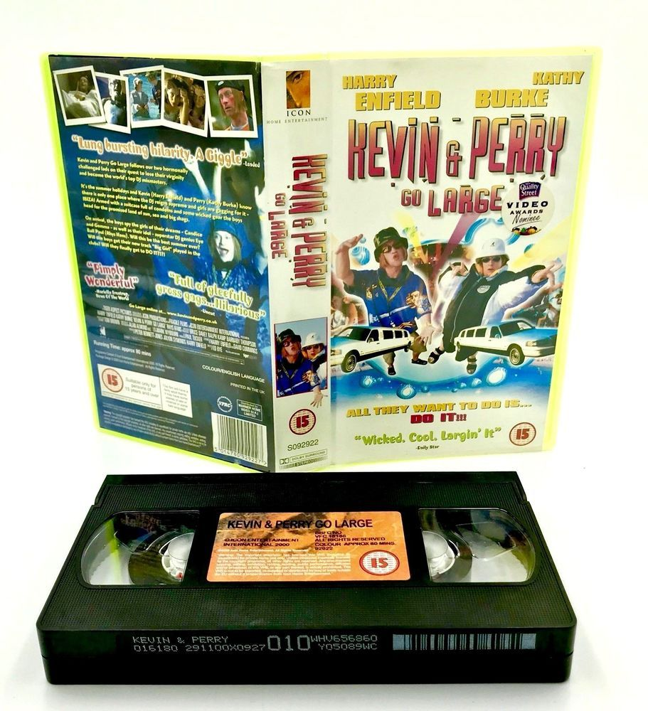 Kevin Amp Perry Go Large Vhs Video Cassette Tape Harry Enfield Kathy Burke Comedy Perry Vhs Ebay