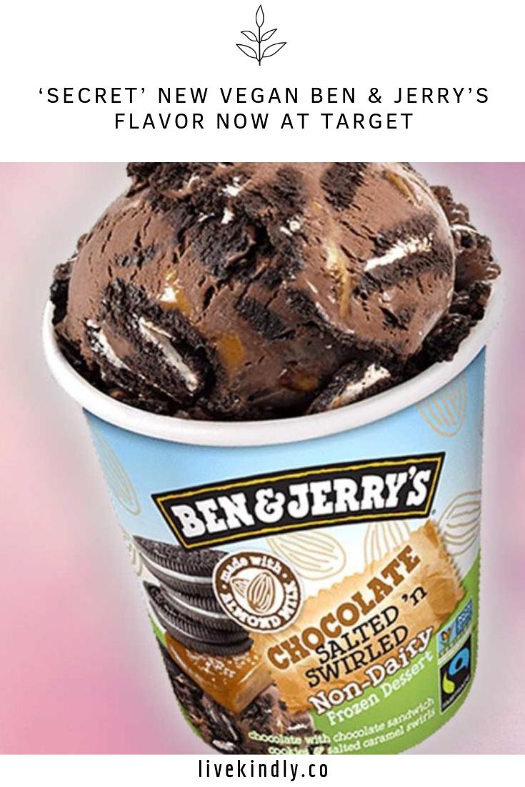 Secret New Vegan Ben Jerry S Flavor Now At Target Chocolate Almond Milk Vegan Cookies Chocolate Sandwich Cookies