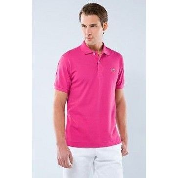 Men Polo Shirt Short Sleeve, HotPink