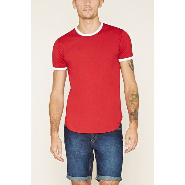 daae0f15419 Forever 21 Men s Ringer Tee ( 13) ❤ liked on Polyvore featuring men s  fashion