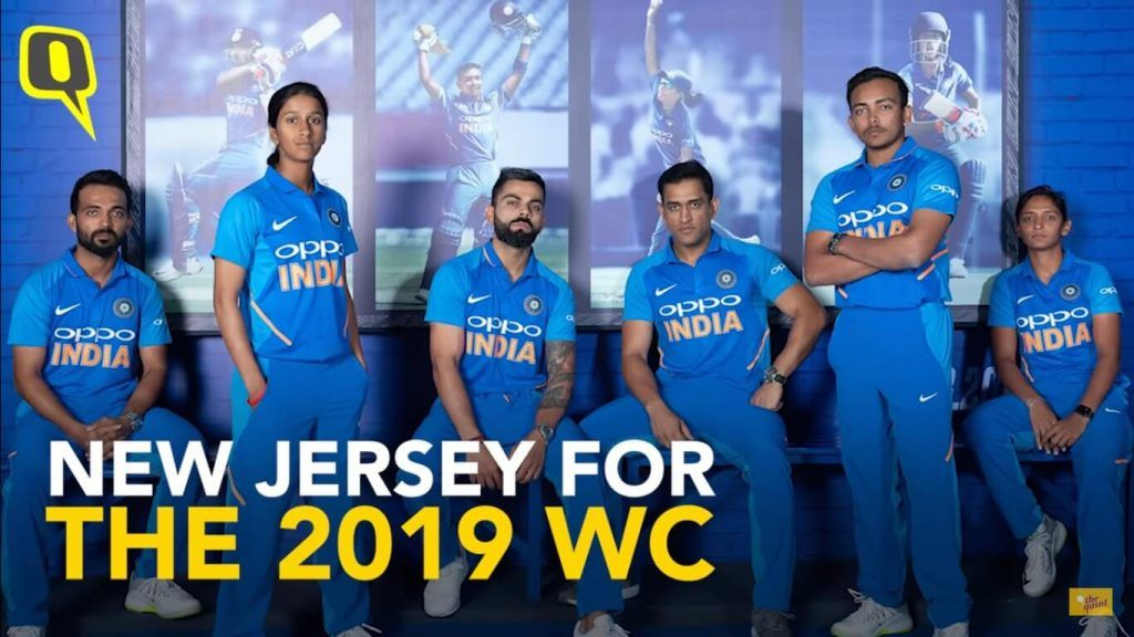 Look At The New Jersey Of Indian Team For Cricket World Cup 2019 Cricket World Cup 2019 News Updates Live Sc Cricket World Cup Jersey World Cup Jerseys