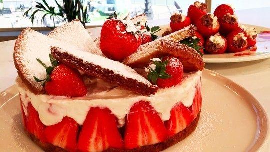 Phil's summer strawberry shortcake and strawberry bites