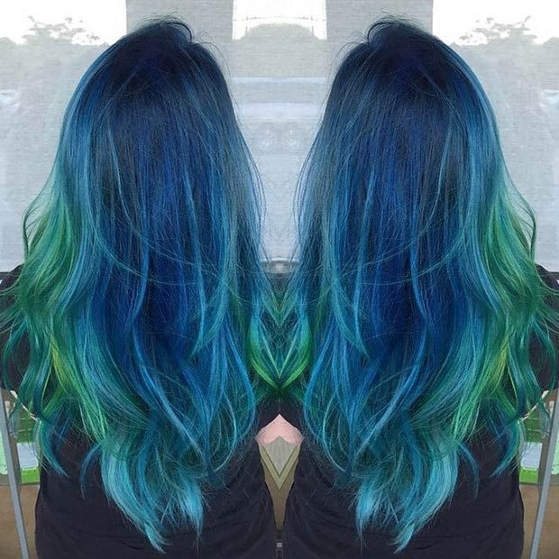 29 Blue Hair Color Ideas For Daring Women Hair Color Blue Dark
