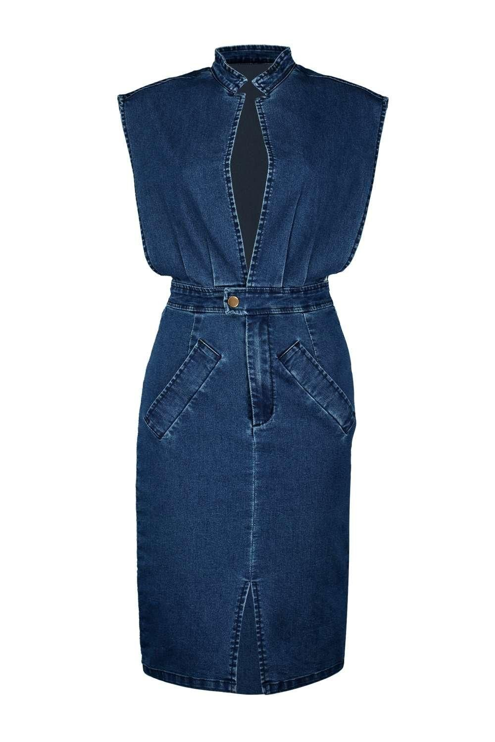 Boutique jessica open front denim dress heeled sandals high waist