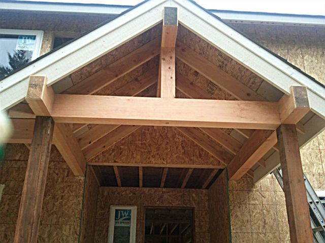 Open beam front porch designs ask the builder john for Open beam front porch