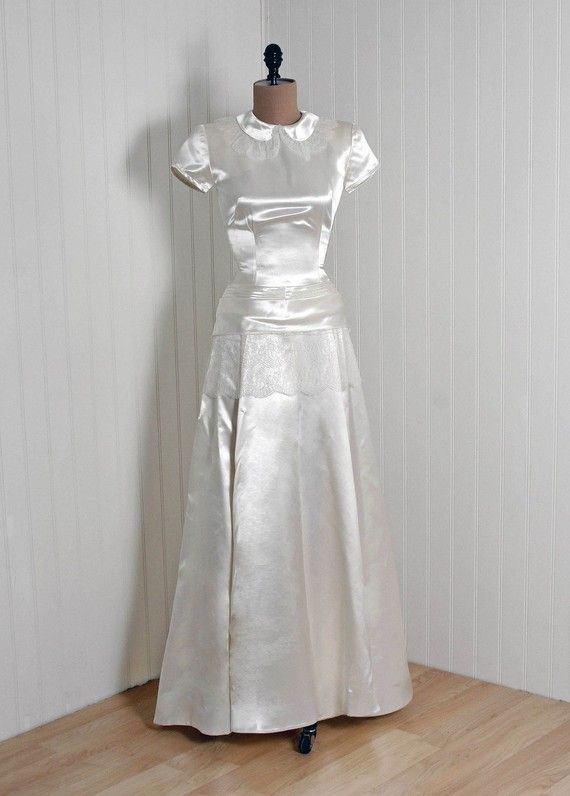 Wedding Gown Cahill Beverly Hills 1940 S Shimmer Si Dresses