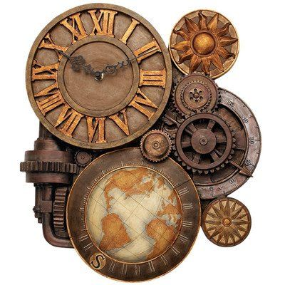 Cool And Unique Steampunk Wall Clock Steampunk Uhr Steampunk