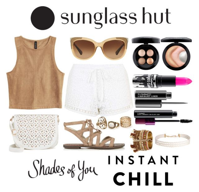 """Shades of You: Sunglass Hut ( Instant Chill )"" by queen-cypriana ❤ liked on Polyvore featuring Coach, Topshop, Sam Edelman, Under One Sky, MAC Cosmetics, Humble Chic and shadesofyou"