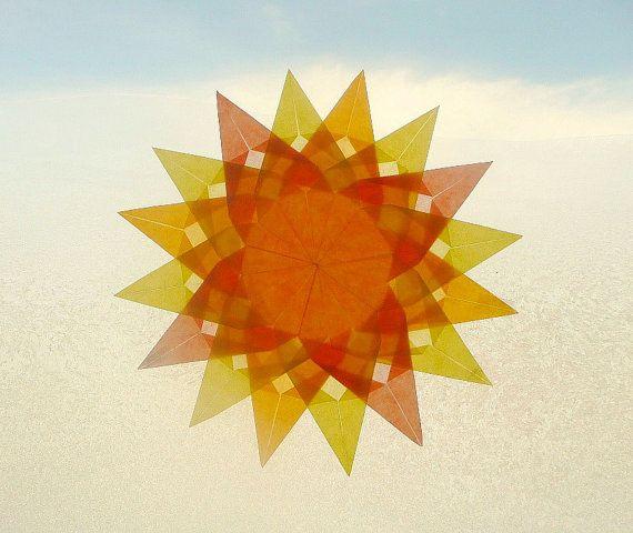 Sun Window Transparency - Spring Summer Mandala Suncatcher ...