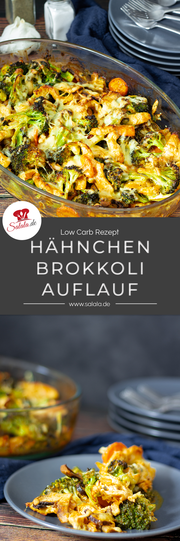 Photo of Chicken and broccoli bake with mushrooms and gouda | salala.de – Low carb made easy