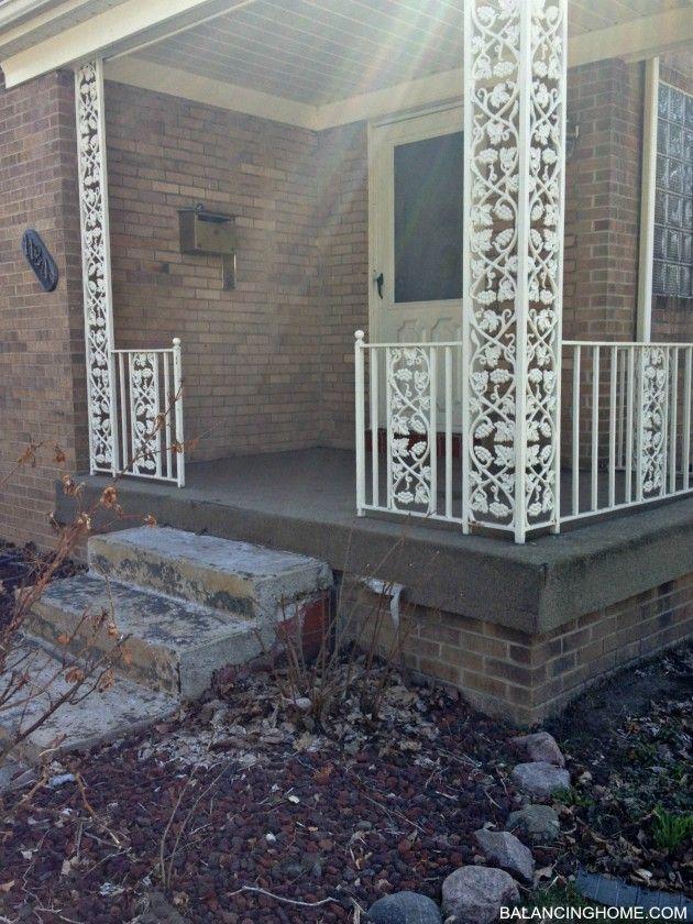 Porch Makeover Details Wrought Iron Porch Railings Front Porch Makeover Porch Makeover