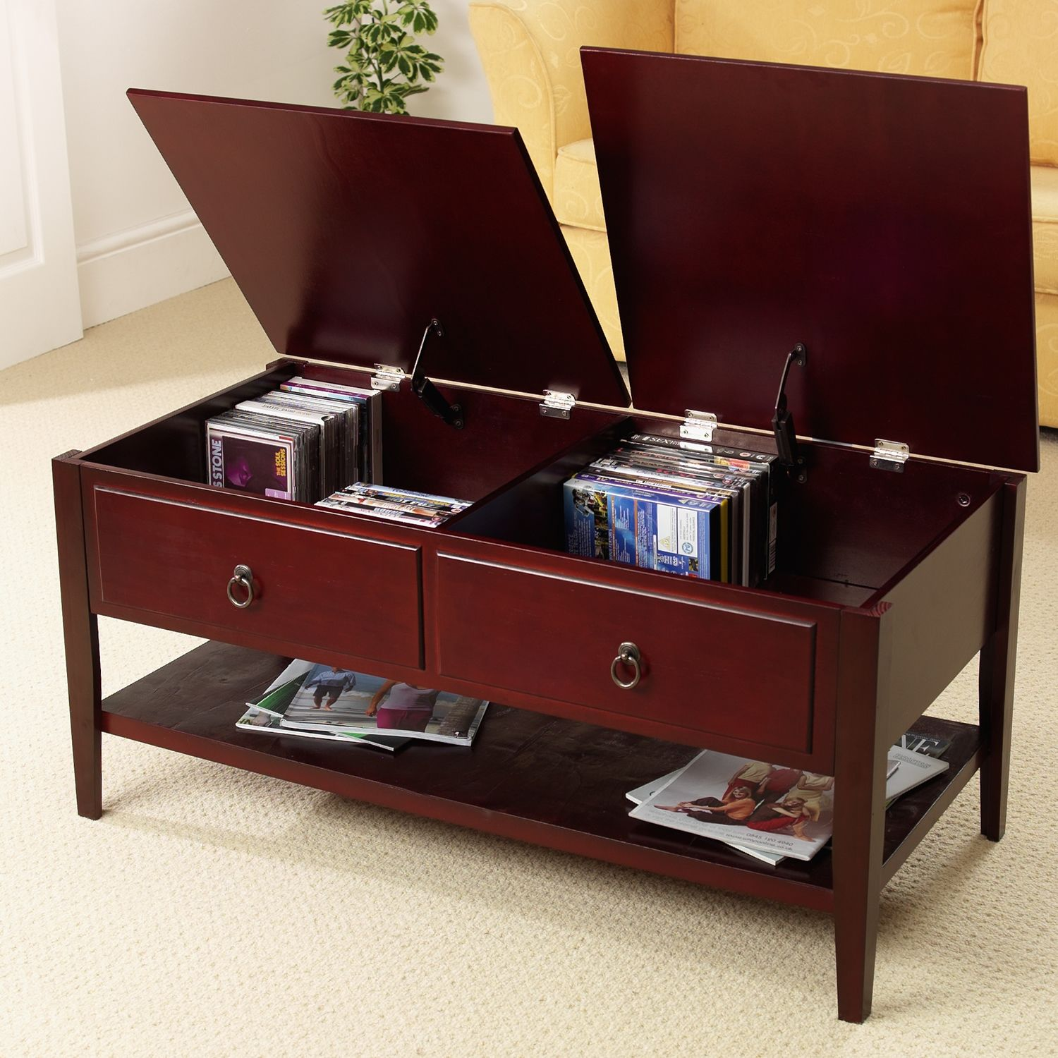 Cherry Wood Coffee Table With Storage & Cherry Wood Coffee Table With Storage | http://therapybychance.com ...