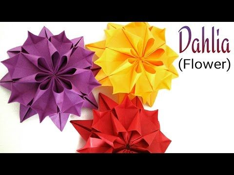 "how to make a paper flower ""beautiful origami flower"" : diy"