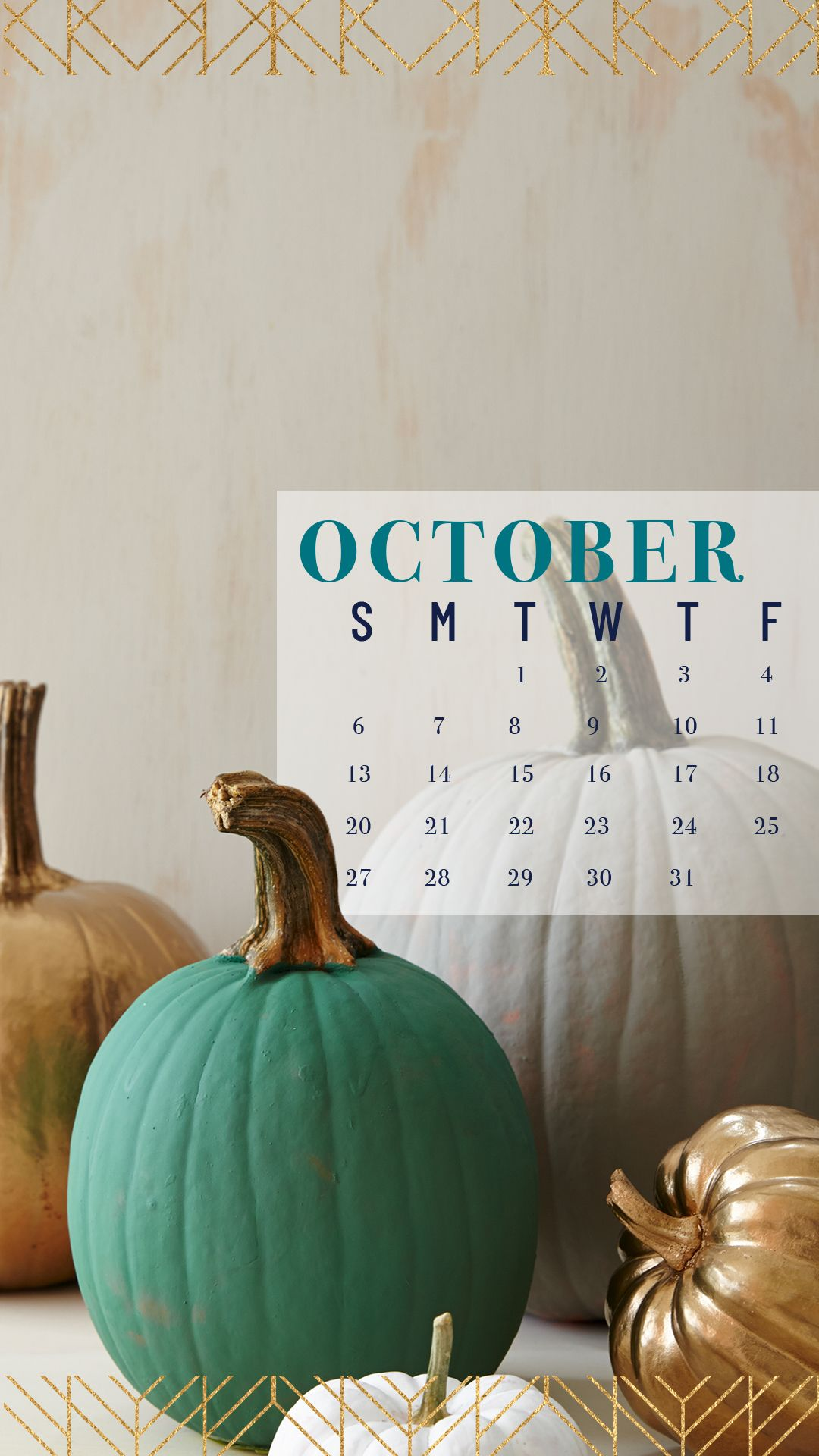 Screenshot our October Wallpaper to your phone to keep track of your calendar this month. #octoberwallpaper