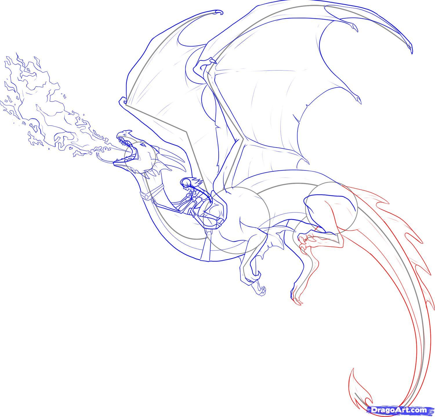 Draw A Dragon Rider  Dragoart