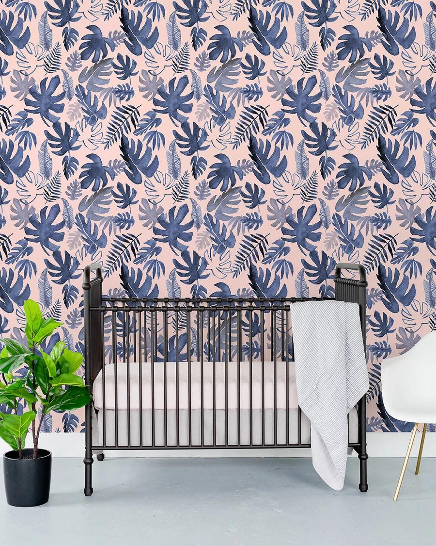 Wallpaper Tropical Pink In 2021 Removable Wallpaper Wallpaper Pink Wallpaper