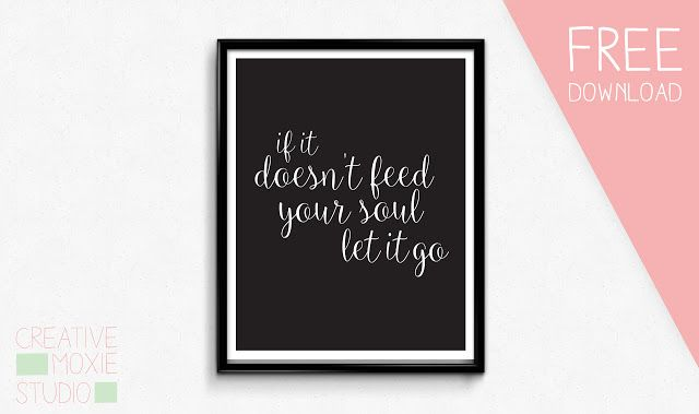 Free printable poster download. Great inspirational quote!