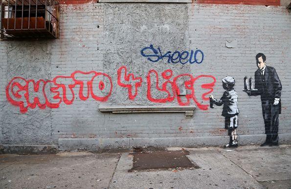 A0 PAINTING CANVAS STREET ART GRAFFITI  PRINT urban  BANKSY new york a1 bronx