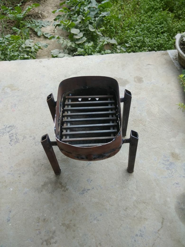 Gas Bottle Fire Pit Brazier Barbeque Grill Making A Fire Pit