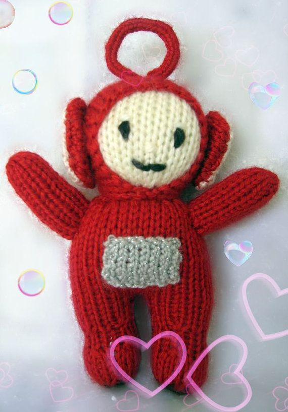 Teletubbies. Knitted dolls. Soft toys. Warning: solid antennas, not ...