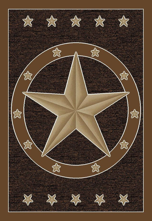This Is A Beautiful Southwestern Rustic Texas Lone Star Area Rug It Has