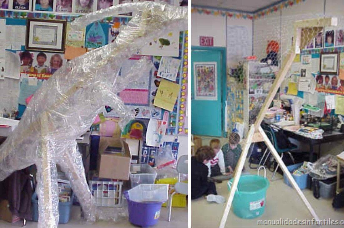 Como Hacer Un Gran Dinosaurio De Papel Mache Modelo Parasaurolophus Sobres De Papel Papel Mache Un Gran Dinosaurio