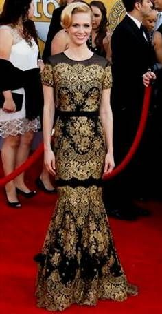 Fashion week Gold and Black red carpet dresses for girls