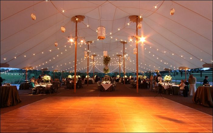 bistro lighting in 66x105 sperry tent way bigger than what we