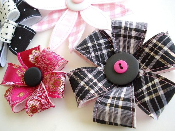 Hair Accessories Sewing Pattern for Flowers by preciouspatterns
