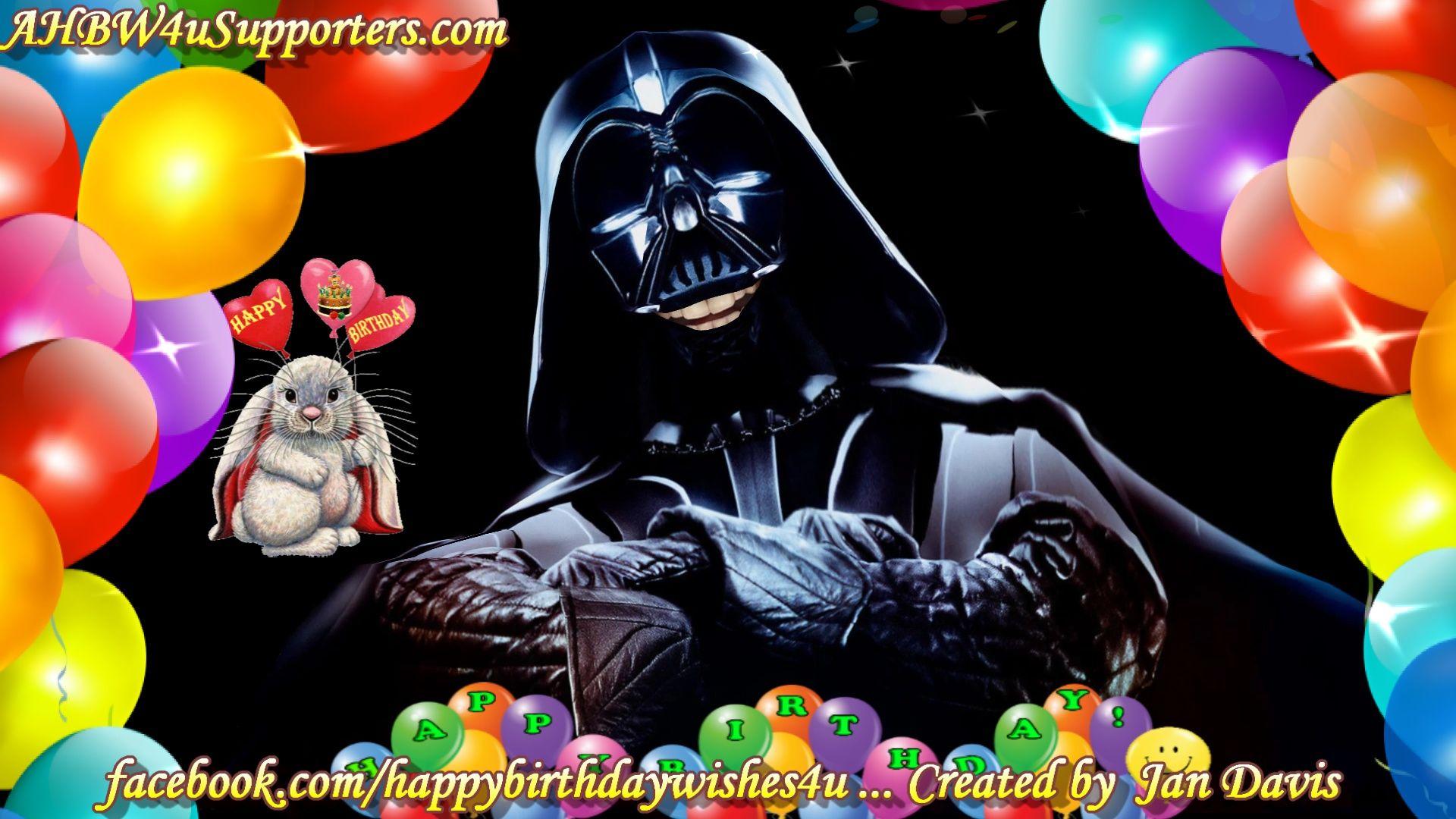Star Wars Darth Vader sings Happy Birthday 2U