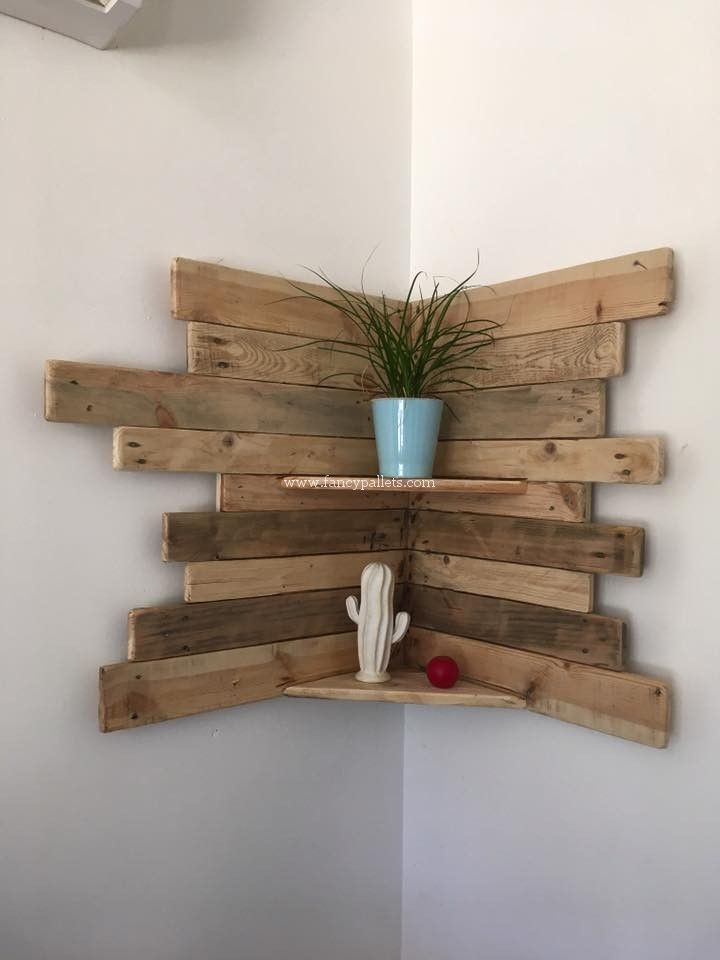 23 Stunningly Corner Shelf Ideas A Guide For Housekeeping Holz Ideen Diy Paletten Diy Palettenmobel