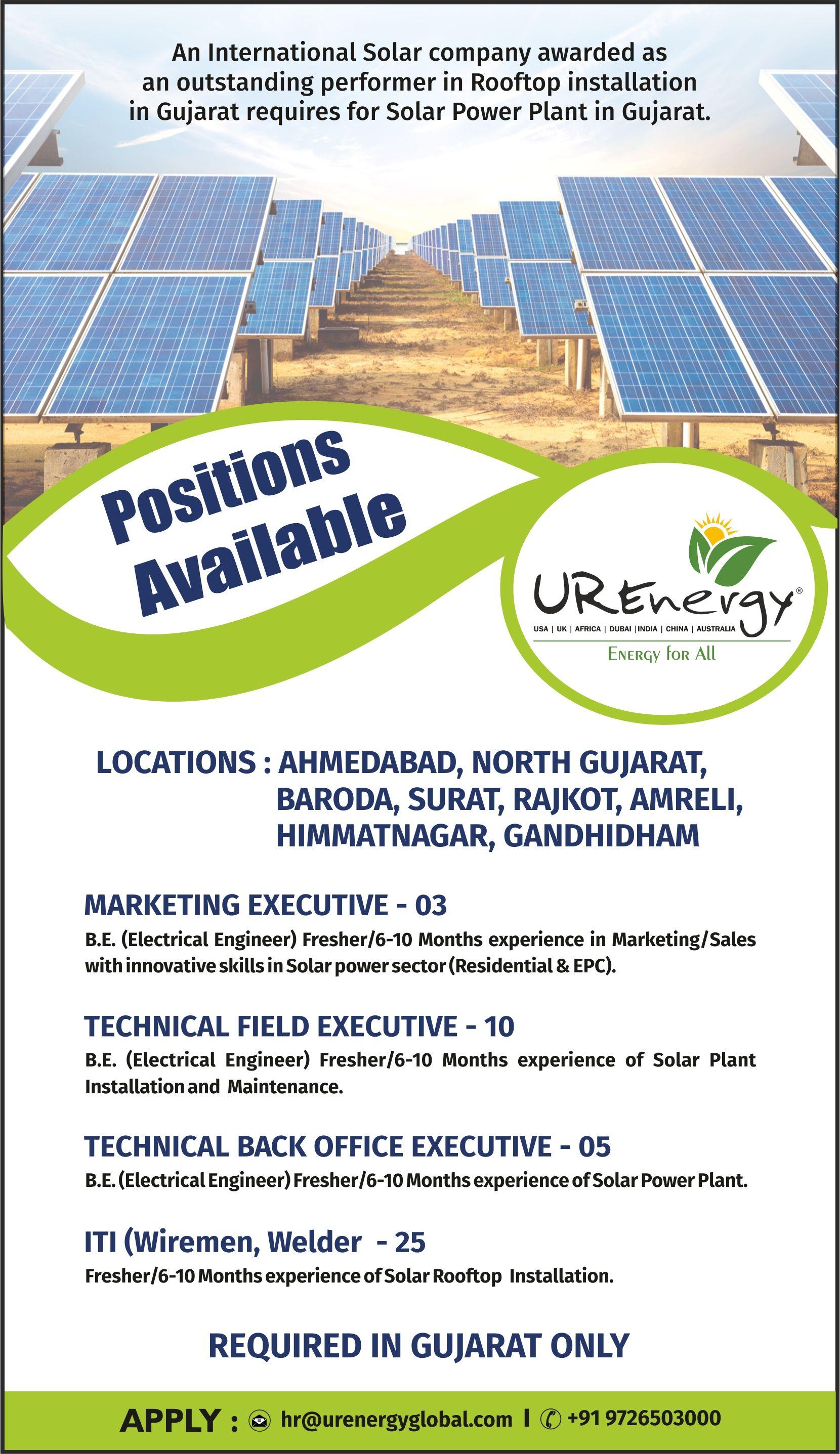 Positions Available In 2020 Solar Companies Solar Power Plant Solar Energy