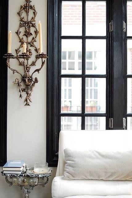 Like The Black Trim On The Windows Black Window Trims Black Window Frames White Walls