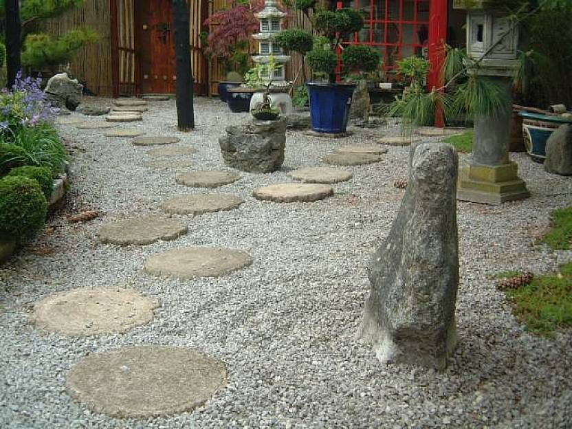 Architectural Rock Japanese Zen Garden Design