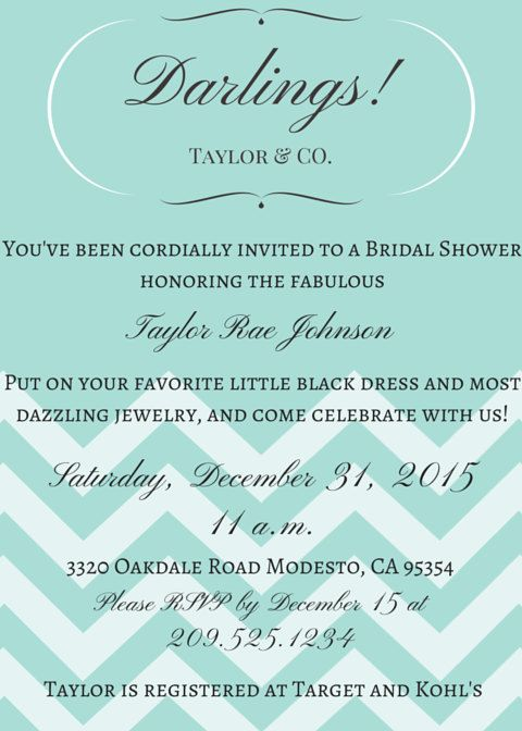 Breakfast At Tiffanys Party Template By TantalizingTemplates