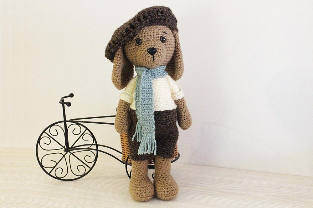 Amigurumi Dog - adorable crochet toy with clothes - find the pattern ...