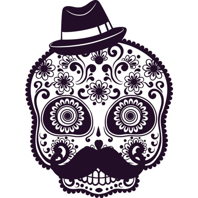 ec962c38b Floral Skull is a T Shirt designed by ivan80 to illustrate your life ...