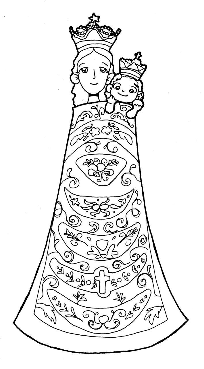Dibujos para catequesis: Virgen María | Virgen | Pinterest | Virgen ...