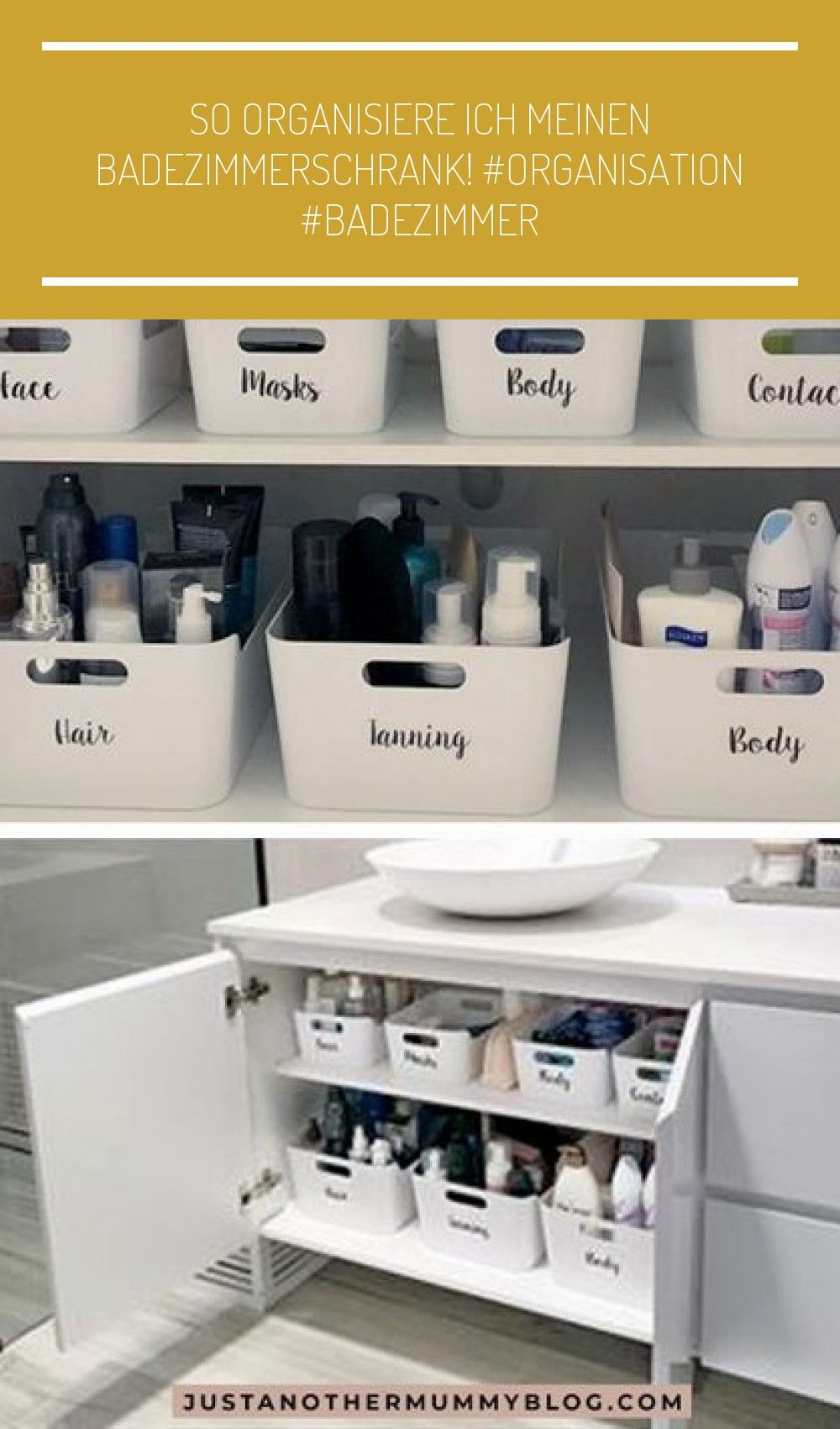 So organisiere ich meinen Badezimmerschrank! #organisation