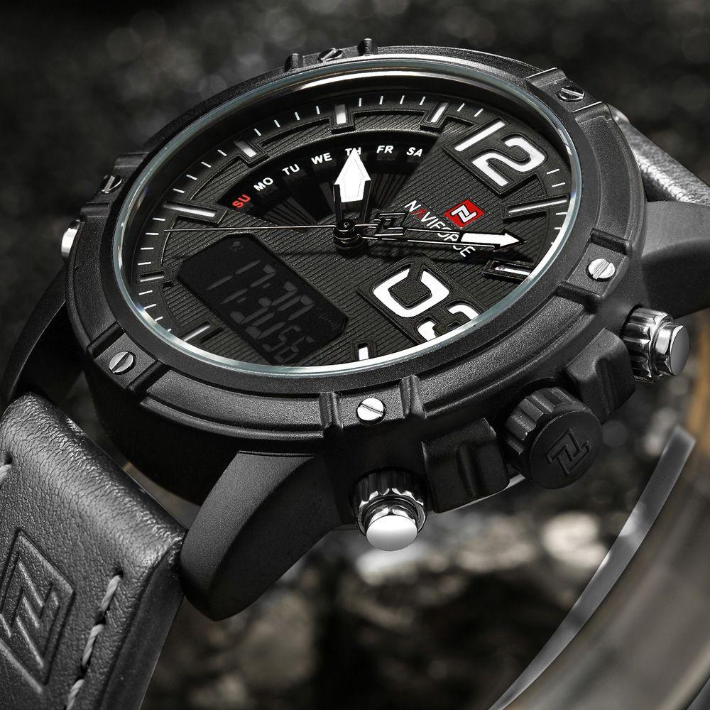 Naviforce Militares Del Ejercito Correa De Cuero Relojes Hombres Marca De Lujo Reloj De Los Hombres Relojes De Cuero Para Hombres Reloj De Hombre Marca De Lujo