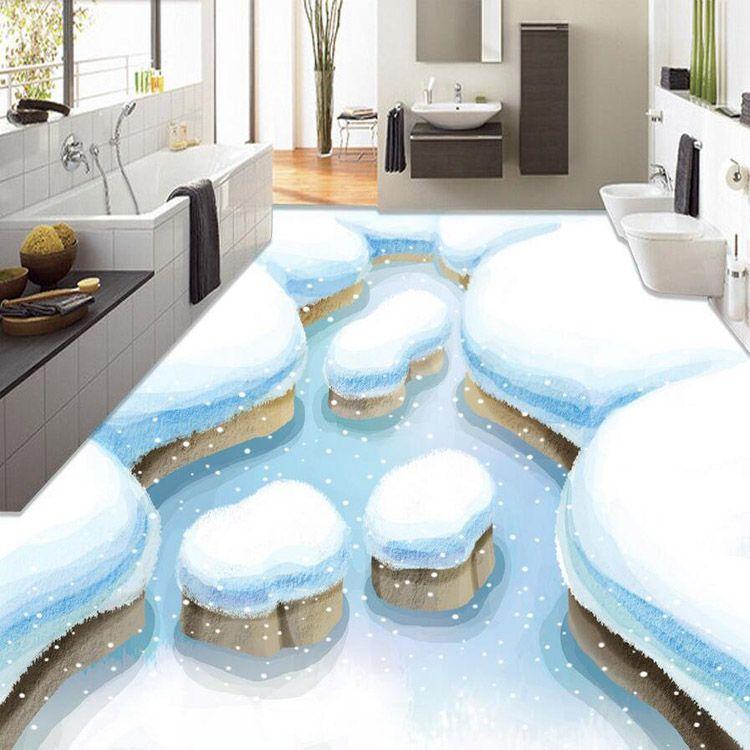3d Floor Painting Wallpaper Winter Snow Views Waterproof Living Room Kitchen Room 3d Floor Murals Wallpaper Affil Bathroom Flooring Epoxy Floor 3d 3d Flooring