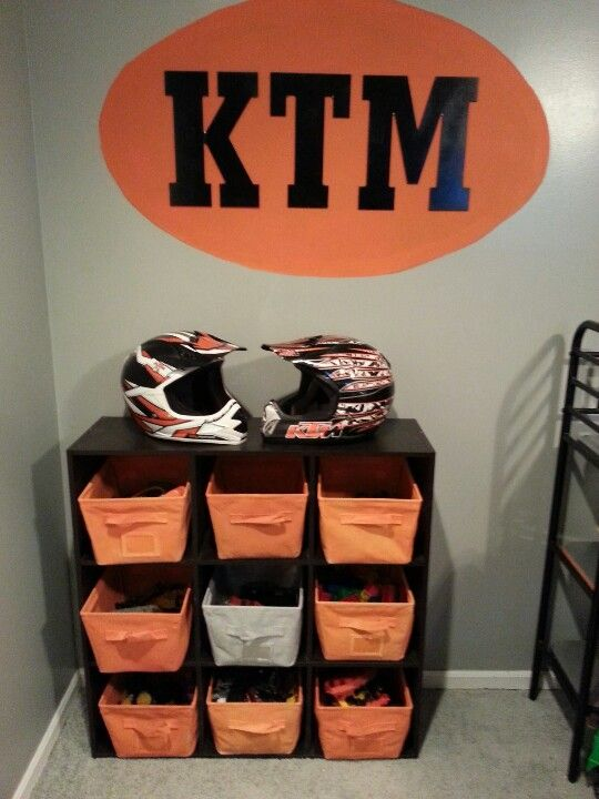 Painted Old Cubby Cubes Black Amp Baskets In Ktm Colors