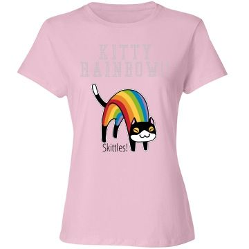 Rainbow kitty | Skittles! By Runedragon's Designs http://www.customizedgirl.com/s/silverkitty