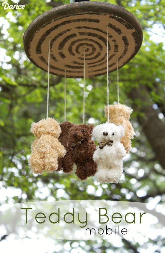 DIY Mobile Tutorial with Mini Teddy Bears - Darice