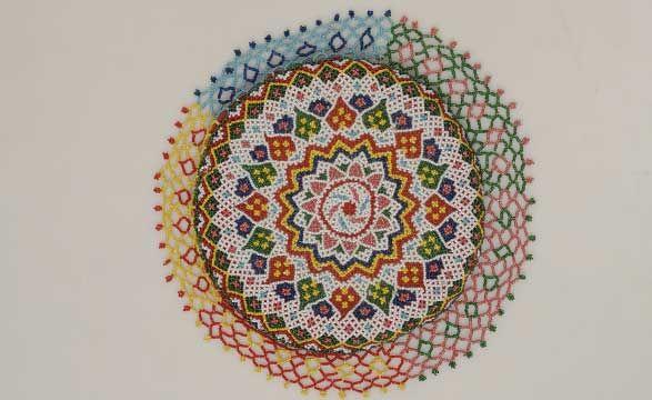 Gujarat Is The Centre For Bead Craft Also Known As Moti Bharat Across India Decorative Itemsbead Craftshandicrafthouseholdsbeadworkthe