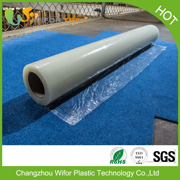 low price surface protection self adhesive pe material temporary clear carpet protector runner