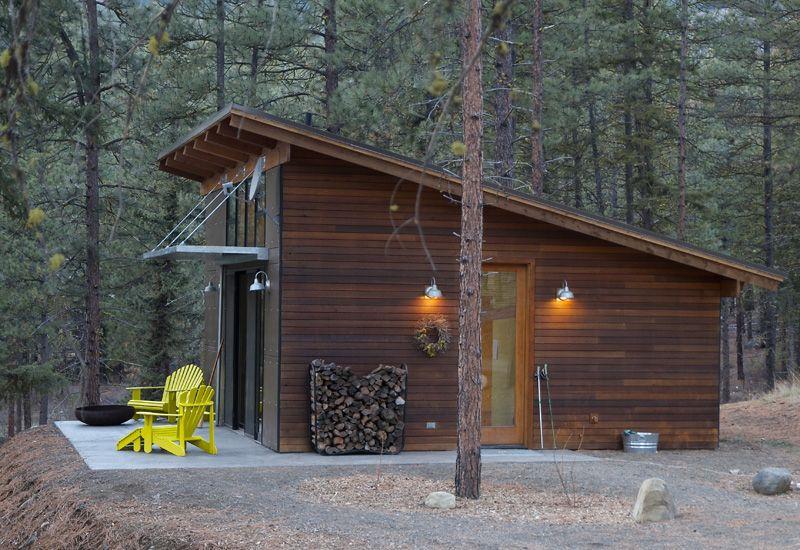 Hilton Construction Modern Passive Solar Ranch House Shed