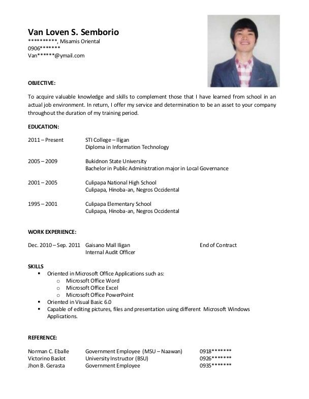 Example Of Resume Cover Letter resume template Pinterest - resume cover example